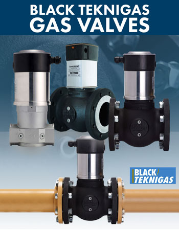 Black Teknigas Gas Valves