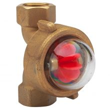 """Fig 1305 Bronze Rotor Type Sight Flow Indicator 1/2"""" BSPP"""