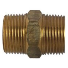 "1"" BSPT Bronze Hex Nipple"