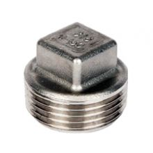"1/2"" BSP S/Steel Square Head Plug 150 PSI"
