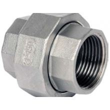 "3/8"" BSP S/Steel Conical Seat Union 150 PSI"