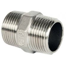"3/8"" BSP S/Steel Hexagon Nipple 150 PSI"