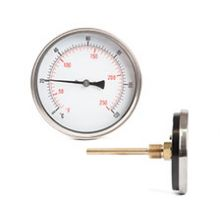 "4"" Thermometer 0-120°C 1/2"" BSP Back Entry 100mm Long Pocket"