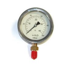 "4"" Dia Gas Pressure Gauge 0-100 mBar & H2O 3/8"" BSP Bottom Connection"