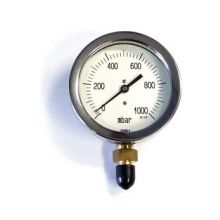 "4""Single Scale Gas Pressure Gauge 0-1000 mbar 3/8"" BSP"