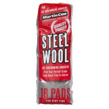 Steel Wool #00 Very Fine Grade Pack of 16 Pads