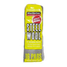 Steel Wool #000 Extra Fine Grade Pack of 16 Pads