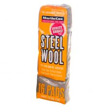 Steel Wool #0000 Super Fine Grade Pack of 16 Pads