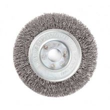87mm Dia Wheel Brush 24 SWG Double Crimped Wire