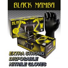 Box of 100 Black Mamba Disposable Nitrile Gloves  - Large