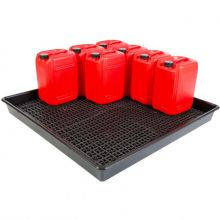 16 x 25L Drum Tray With Removeable Base Grid