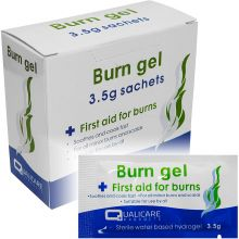 3.5g Burn Scald Emergency First Aid Treatment Gel Sachets (Pack of 25)