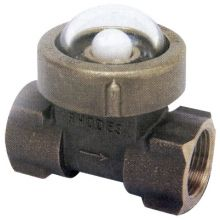 "Fig 400 Gun Metal Sight Flow Indicator Ball Type 3/4"" BSPT"