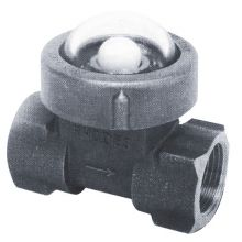 "Fig 400 St/St Sight Flow Indicator Ball Type 1"" BSPT"