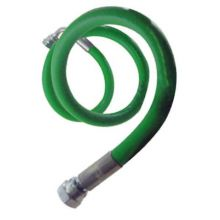 "Flexible Green Oil Line 1/4"" M Bent x 3/8"" F St x 440mm Long"