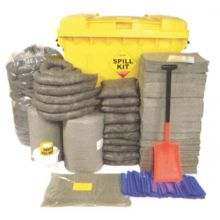 General Purpose Spill Kit - Wheeled Bin - Absorbs 800L