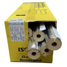 54mm ID - 30mm Thick Foil Faced Pipe Section 1.2M Box Qty 10