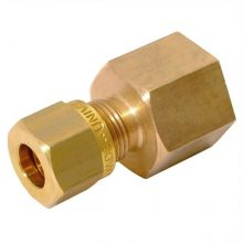 """1/2"""" BSPP Female Stud Coupling to 12mm Compression"""