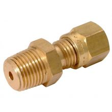 """1/4"""" NPT Male Stud Coupling to 10mm OD Compression"""