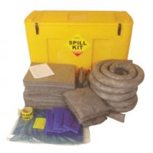 Oil & Fuel Spill Kit - Mobile Locker - Absorbs 250L