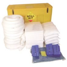 Oil & Fuel Spill Kit - Mobile Locker - Absorbs 350L