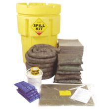 Oil & Fuel Spill Kit - Overpack Drum - Absorbs 250L