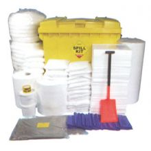 Oil & Fuel Spill Kit - Wheeled Bin - Absorbs 1100L