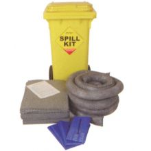 Oil & Fuel Spill Kit - Wheelie-bin - Absorbs 100L