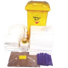 Oil & Fuel Spill Kit - Wheelie-bin - Absorbs 250L