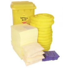 Oil & Fuel Spill Kit - Wheelie-bin - Absorbs 300L