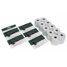 Pack of 10 Paper Rolls & 5 Ribbon Pack