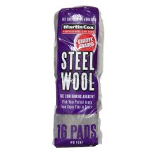Steel Wool #0 Fine Grade Pack of 16 Pads