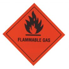 Flammable Gas Warning Diamond - RED
