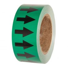 Green Pipe Tape 50mm x 33m with Vertical black arrows Roll