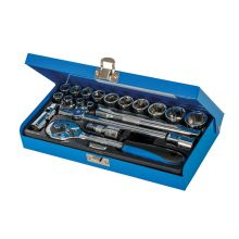 "Socket Wrench Set 3/8"" Drive Metric 20 Piece Set"