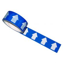 Blue/White Arrow Direction Tape 33M Roll