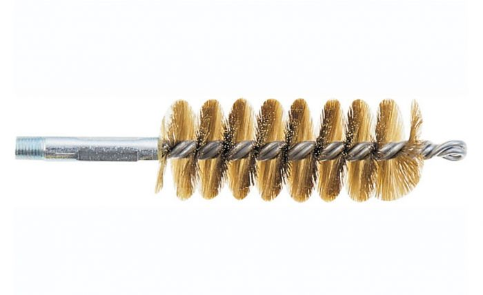 """1 1/4"""" Dia. Brass Tube Brush C/W 1/2"""" Whit Male Connection"""
