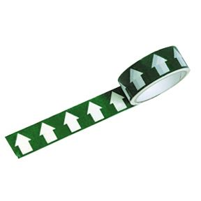 Arrows White On Green Tape 38mm x 33M Roll