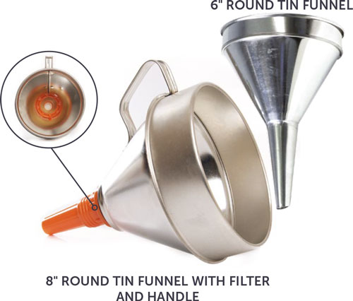 Tin Plated Funnels