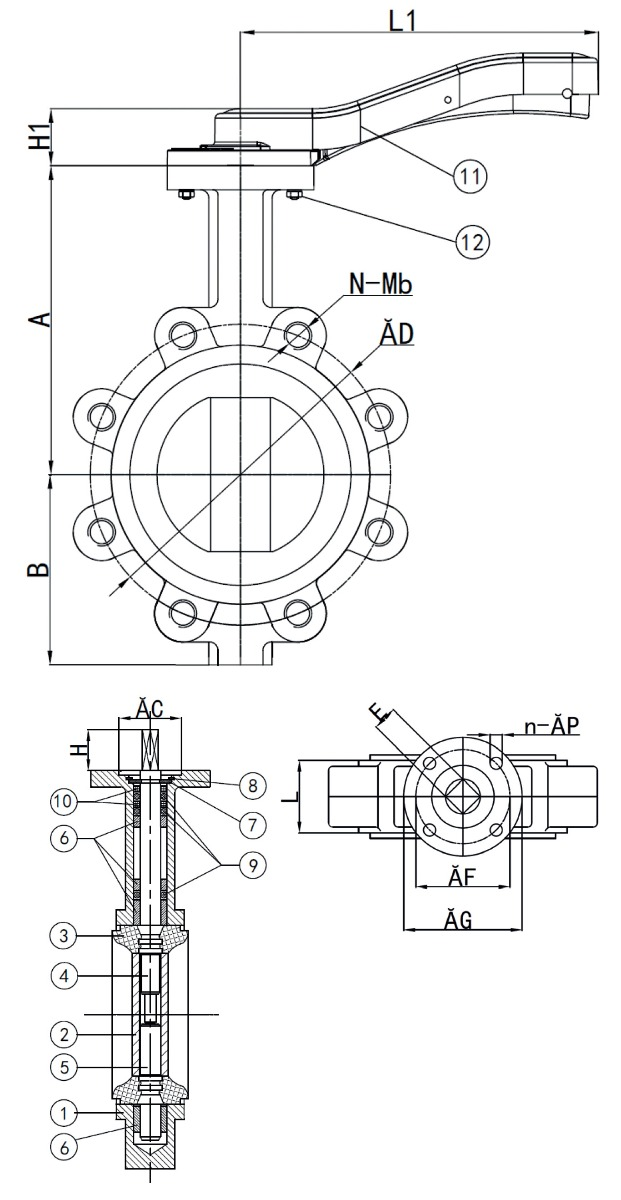 butterfly valve diagram